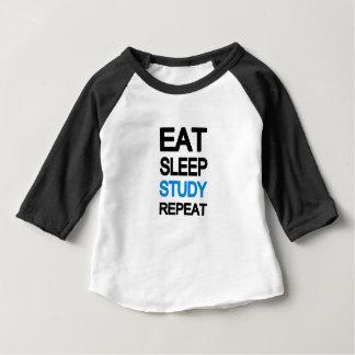 Eat sleep study repeat baby T-Shirt
