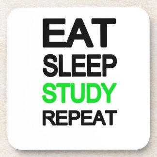 Eat sleep study repeat coaster