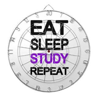 Eat sleep study repeat dart boards
