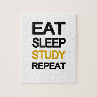 Eat sleep study repeat jigsaw puzzle