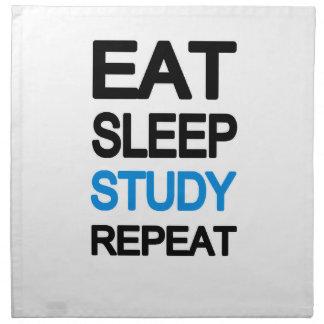Eat sleep study repeat napkin