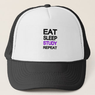 Eat sleep study repeat trucker hat