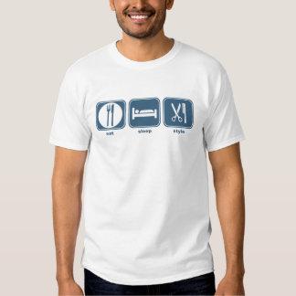 eat sleep style shirts