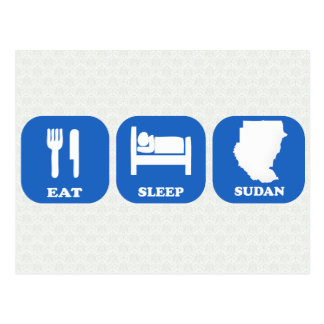 Eat Sleep Sudan Postcard