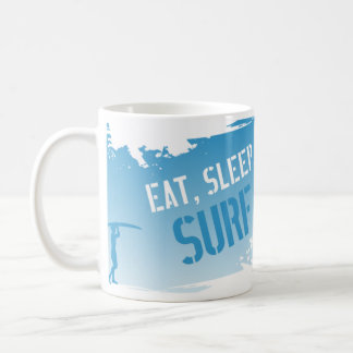 Eat, Sleep, Surf Basic White Mug