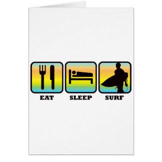 Eat, Sleep, Surf Card