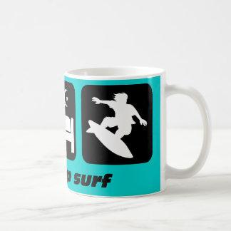 Eat sleep surf coffee mug