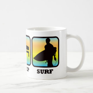 Eat, Sleep, Surf Coffee Mugs