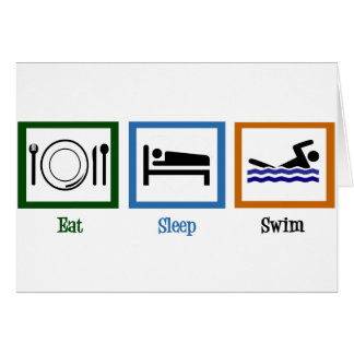 Eat Sleep Swim Card