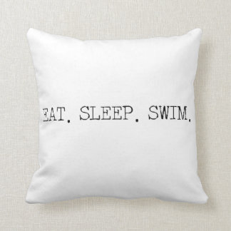 Eat Sleep Swim Cushion