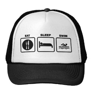 Eat Sleep Swim Mesh Hats