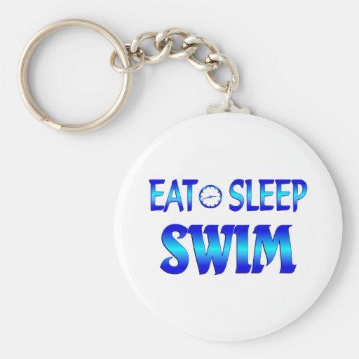 Eat Sleep Swim Key Chains