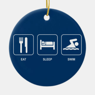 Eat Sleep Swim Ornament