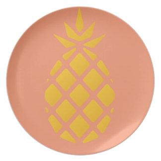 eat sleep swim pineapple plates