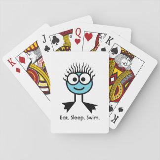 Eat. Sleep. Swim Poker Deck