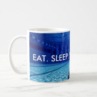 EAT. SLEEP. SWIM. REPEAT. COFFEE MUG