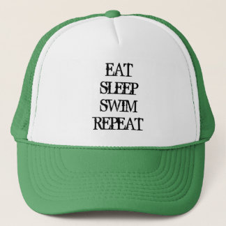 EAT SLEEP SWIM REPEAT swimming coach sports hat