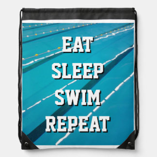 EAT SLEEP SWIM REPEAT swimming pool coach backpack
