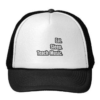 Eat Sleep Teach Music Mesh Hats