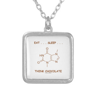 Eat ... Sleep ... Think Chocolate (Theobromine) Custom Jewelry