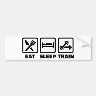 Eat Sleep Train Bodybuilding Bumper Sticker