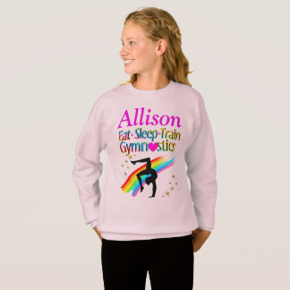 EAT SLEEP TRAIN GYMNASTICS PERSONALIZED SHIRT