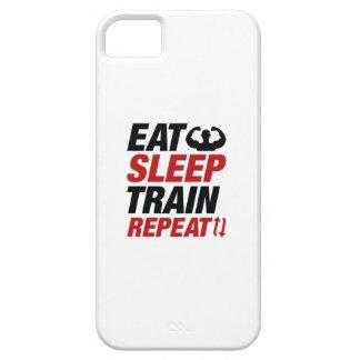 Eat Sleep Train Repeat iPhone 5 Case