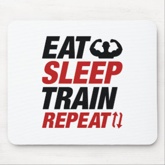 Eat Sleep Train Repeat Mouse Pad