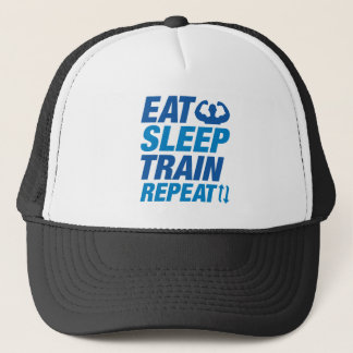 Eat Sleep Train Repeat Trucker Hat
