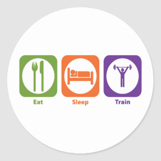 Eat Sleep Train Round Sticker