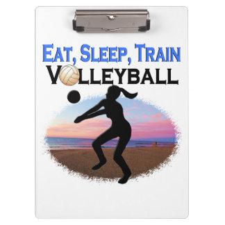 EAT, SLEEP, TRAIN VOLLEYBALL CLIPBOARDS