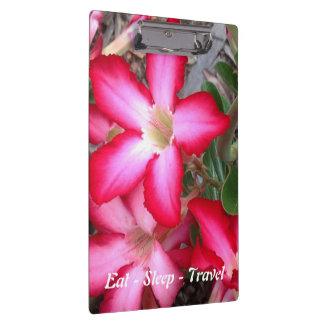 Eat Sleep Travel Australian floral clipboard