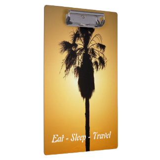 Eat Sleep Travel clipboard