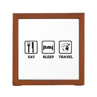 Eat Sleep Travel Desk Organiser