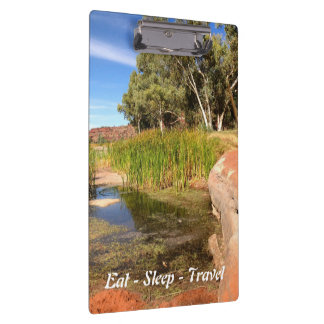 Eat Sleep Travel Finke River Australia clipboard