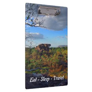 Eat Sleep Travel Kakadu Australia clipboard