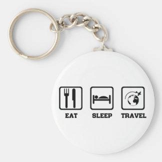 Eat Sleep Travel Key Ring