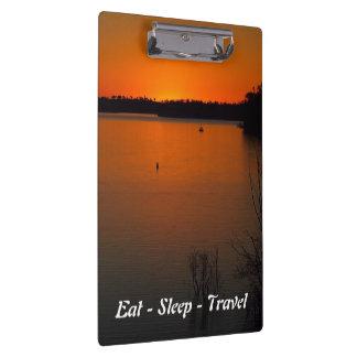 Eat Sleep Travel Lake Monduran clipboard