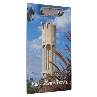 Eat Sleep Travel Longreach water tower clipboard