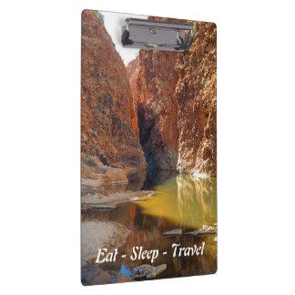 Eat Sleep Travel Outback Australia clipboard