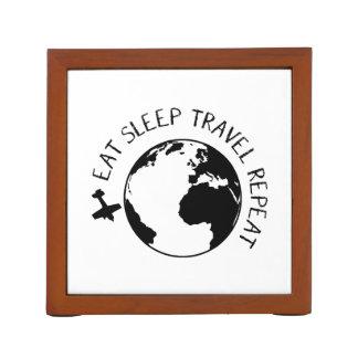 Eat Sleep Travel Repeat Desk Organiser