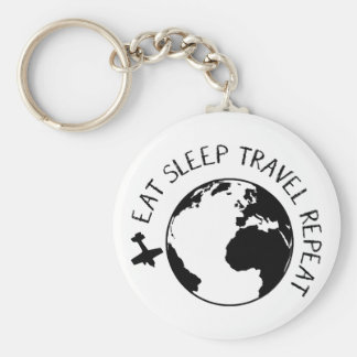 Eat Sleep Travel Repeat Key Ring