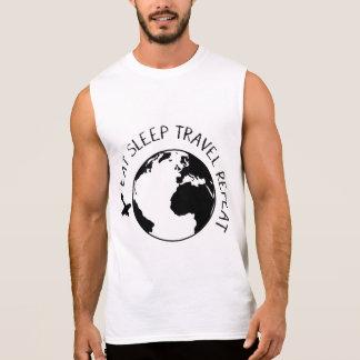 Eat Sleep Travel Repeat Sleeveless Shirt