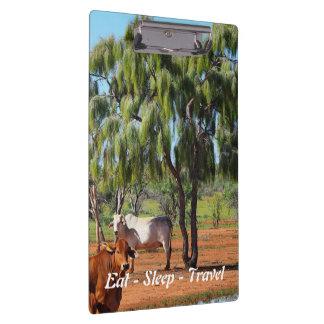 Eat Sleep Travel Rural Australia clipboard