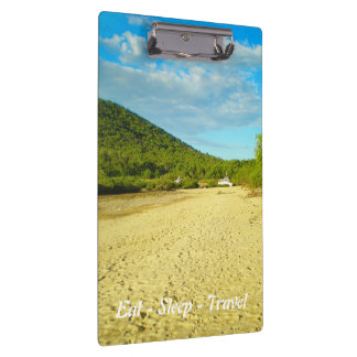 Eat Sleep Travel Stanage Bay clipboard