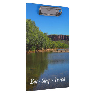 Eat Sleep Travel Victoria River clipboard