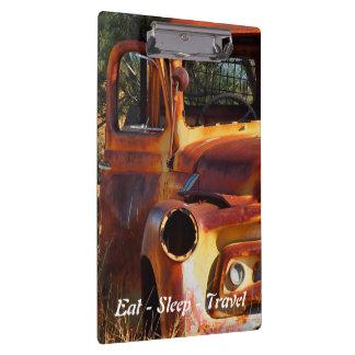 Eat Sleep Travel Vintage car clipboard