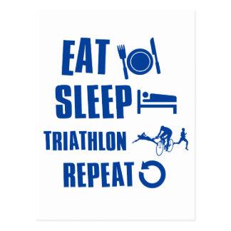 Eat sleep Triathlon Postcard