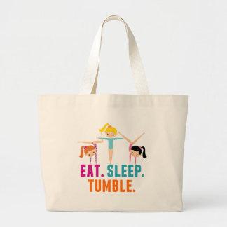 Eat Sleep Tumble Gymnastics Large Tote Bag