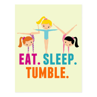Eat Sleep Tumble Gymnastics Postcard